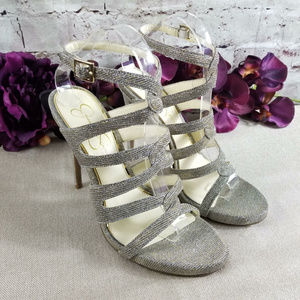 Jessica Simpson Reyse Glitter Gabor Heels Strappy